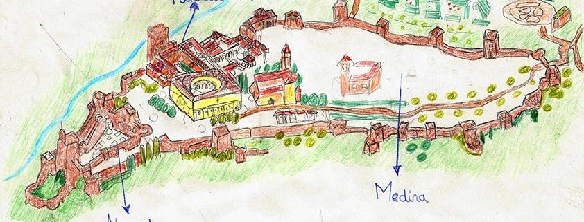Mapa Alhambra Granada para niños