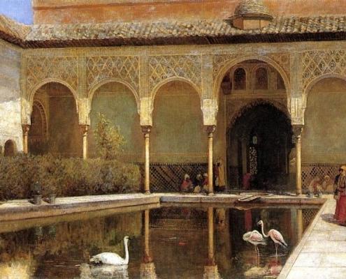 Imagen romantica Alhambra de Granada